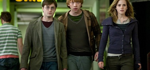Daniel Radcliffe, Rupert Grint, and Emma Watson in Harry Potter and the Deathly Hallows