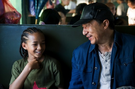 Jaden Smith and Jackie Chan in The Karate Kid (2010)