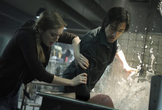 Sarah Polley and Adrien Brody in Splice