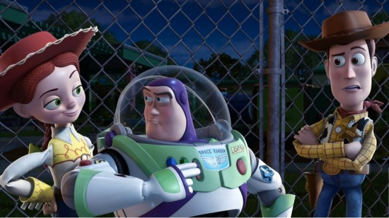 Jessie, Buzz Lightyear and Woody in Toy Story 3
