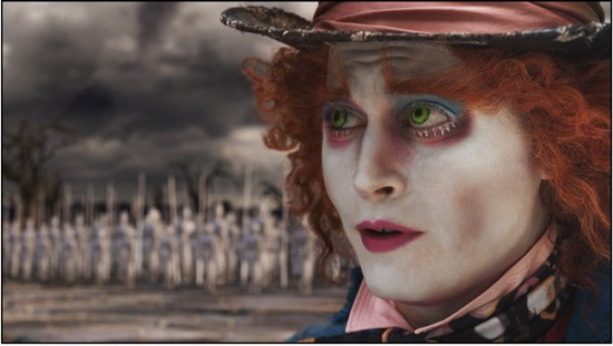 Johnny Depp as the Mad Hatter in Alice in Wonderland (2010)
