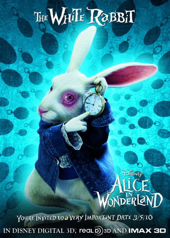 Alice in Wonderland - The White Rabbit poster