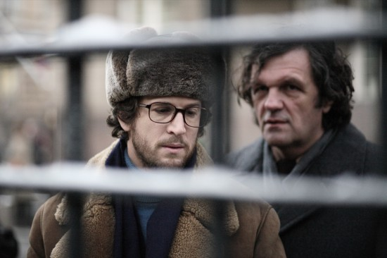 Guillaume Canet and Emir Kusturica in L'affaire farewell