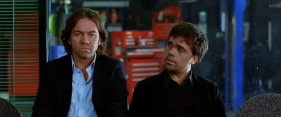 Brendan Cowell and Pter Dinklage in I Love You Too