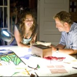 Miley Cyrus and Greg Kinnear in THE LAST SONG