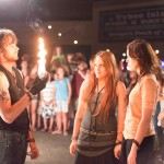 Nick Lashaway, Carly Chaikin, and Miley Cyrus in THE LAST SONG