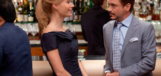 Gwyneth Paltrow and Robert Downey Jr. in Iron Man 2