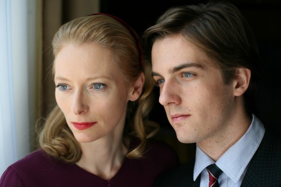 Tilda Swinto and Mattia Zaccaro in I AM LOVE