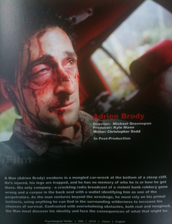 WRECKED Movie Poster w... Adrien Brody Wrecked