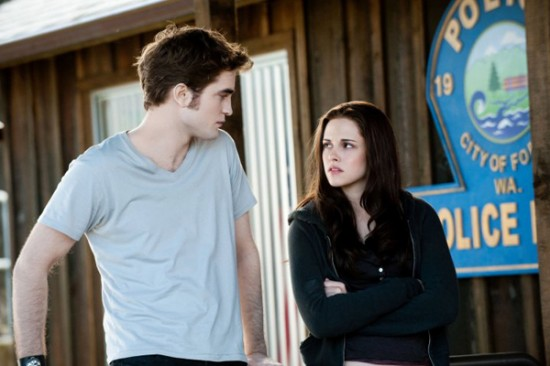 Robert Pattinson and Kristen Stewart in Twilight Eclipse