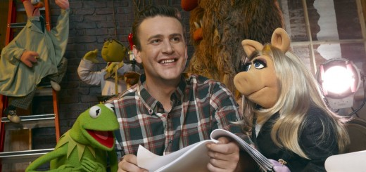 THE MUPPETS movie photo with Jason Segel