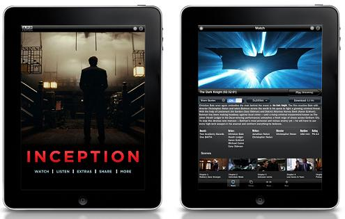 Inception and The Dark Knight Apps