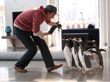 Mr Popper's Penguins movie photo with Jim Carrey