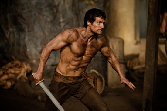 Immortals movie photo with Henry Cavill