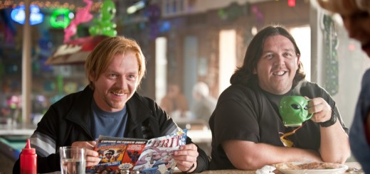Paul movie photo with Simon Pegg and Nick Frost