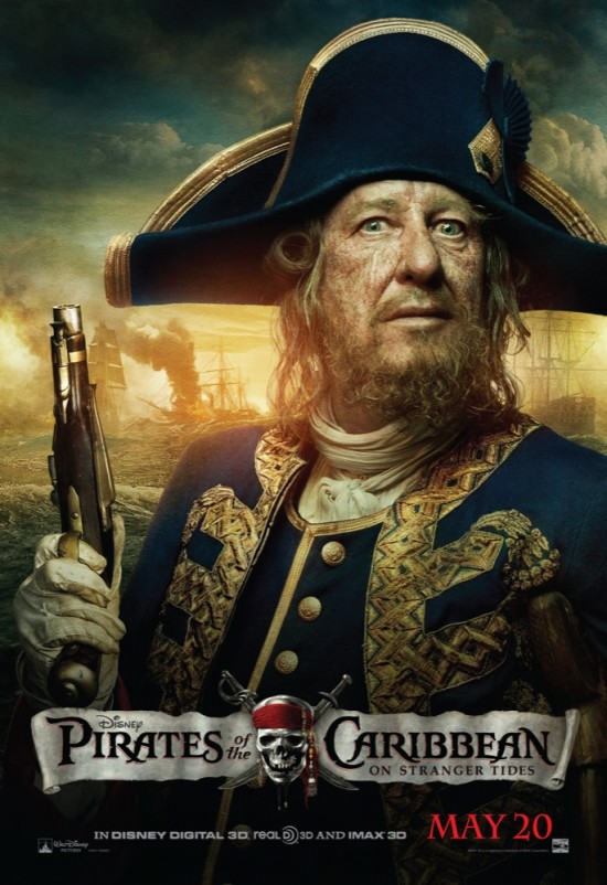Pirates of the Caribbean movie poster - Barbossa
