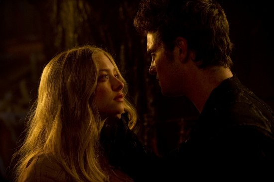 Red Riding Hood movie photos with Amanda Seyfried and Shiloh Fernandez
