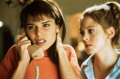 scream neve campbell and rose mcgowan