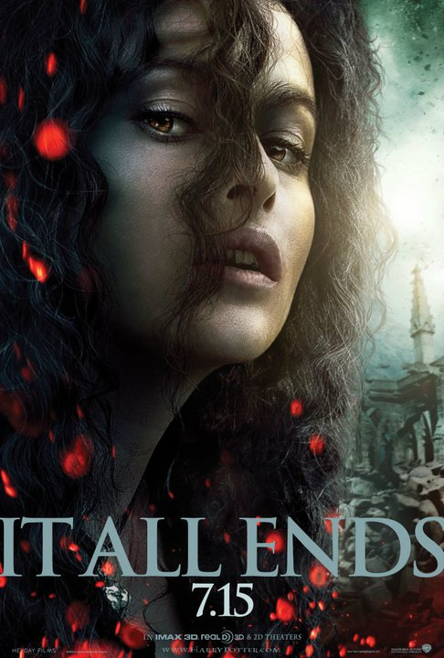 harry potter and the deathly hallows part 2 poster bellatrix lestrange
