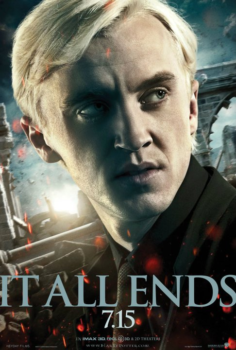 harry potter and the deathly hallows part 2 poster draco malfoy