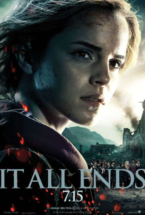 harry potter and the deathly hallows part 2 poster hermione granger