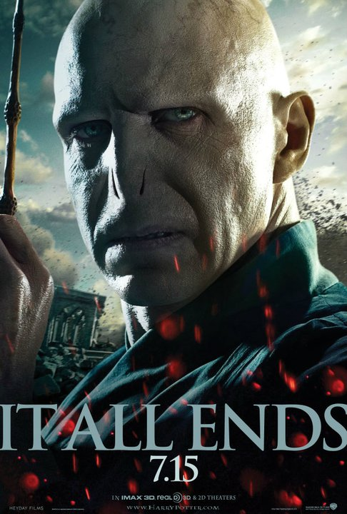 harry potter and the deathly hallows part 2 poster lord voldemort