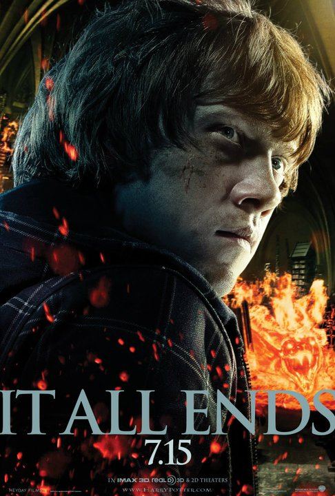 harry potter and the deathly hallows part 2 poster ron weasly