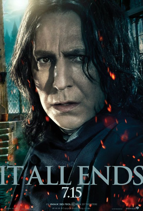 harry potter and the deathly hallows part 2 poster severus snape