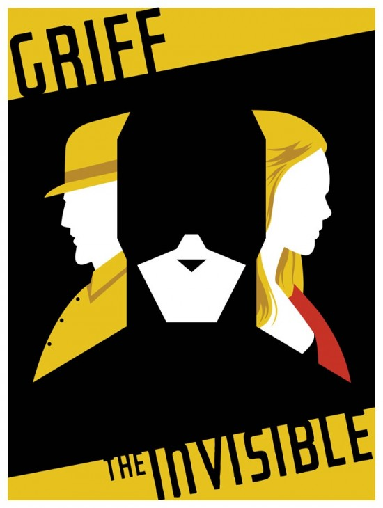 Griff the Invisible comic-con 2011 poster