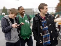 DF-08294 - Andrew (Dane DeHaan, left), Steve (Michael B. Jordan) and Matt (Alex Russell) enjoy using their powers to play some pranks.