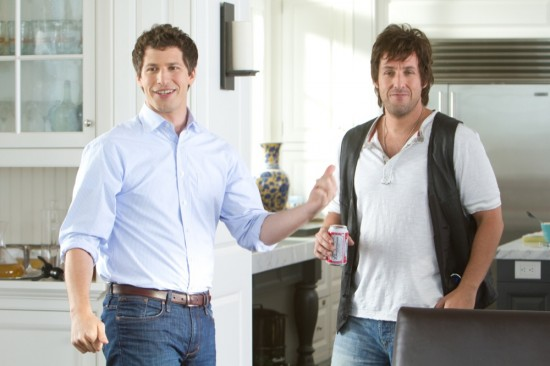 Todd (Andy Samberg) and Donny (Adam Sandler) in I HATE YOU DAD.