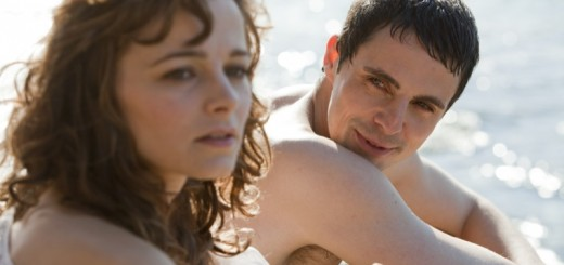 Bojana Novakovic and Matthew Goode in Burning Man