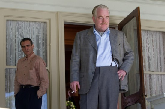 JOAQUIN PHOENIX and PHILIP SEYMOUR HOFFMAN star in THE MASTER