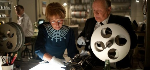 Helen Mirren as Alma Reville and Anthony Hopkins as Alfred Hitchcock on the set of Hitchcock