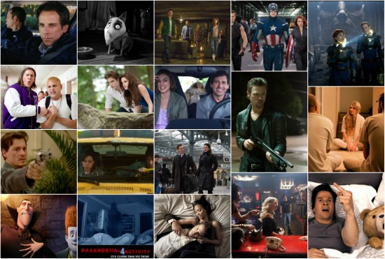 2012 Movies Hits and Misses