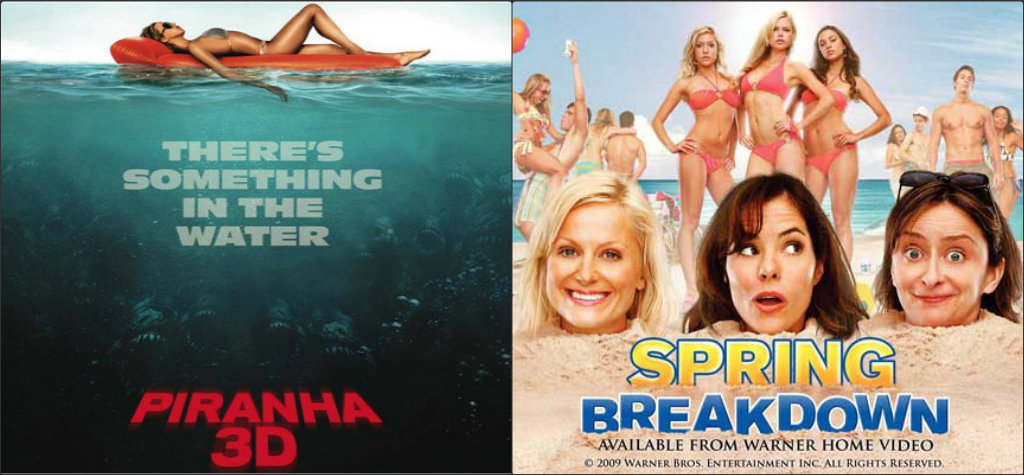 The Double Feature Piranha And Spring Breakdown Film Equals