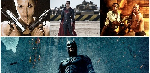 The Dark Knight + Man of Steel + Tomb Raider + The Mummy